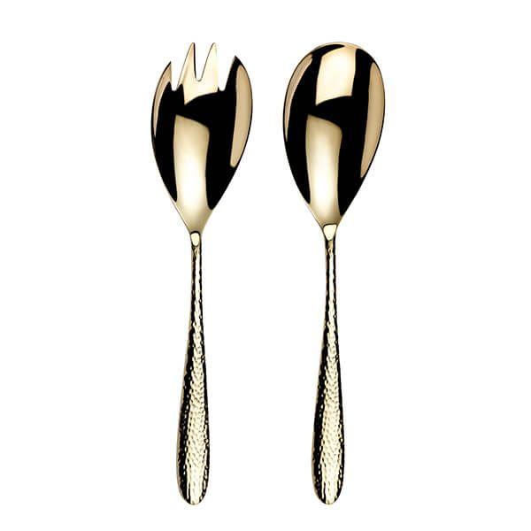 Arthur Price Monsoon Champagne Mirage Pair of Salad Servers