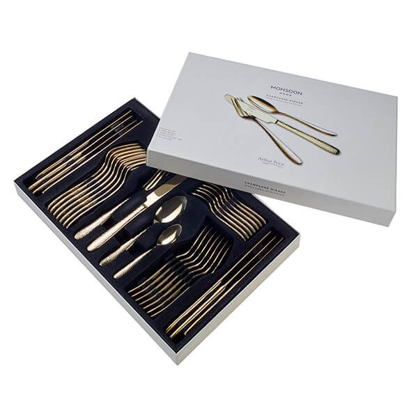 Arthur Price Monsoon Champagne Mirage 32 Piece Cutlery Gift Box Set