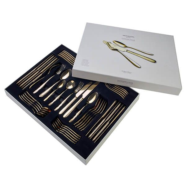 Arthur Price Monsoon Champagne Mirage 44 Piece Cutlery Gift Box Set