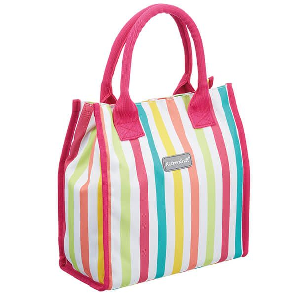 KitchenCraft 4 Litre Multi Stripes Lunch And Snack Cool Bag