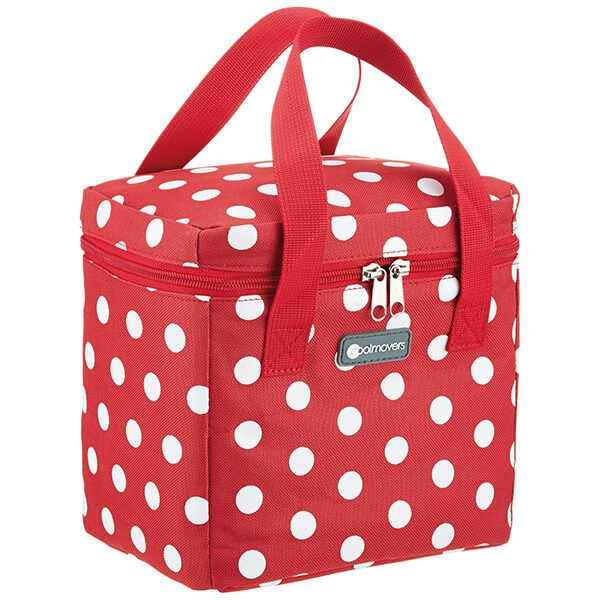 KitchenCraft 5 Litre Tall Red Polka Lunch And Snack Cool Bag