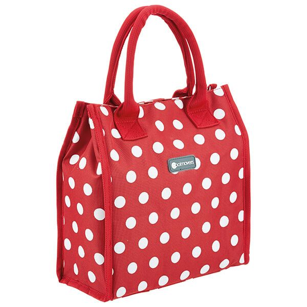KitchenCraft 4 Litre Red Polka Lunch And Snack Cool Bag