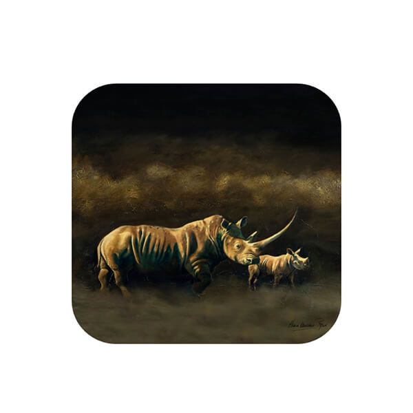 Country Matters Karen Laurence-Rowe Otoro & Calf Coaster