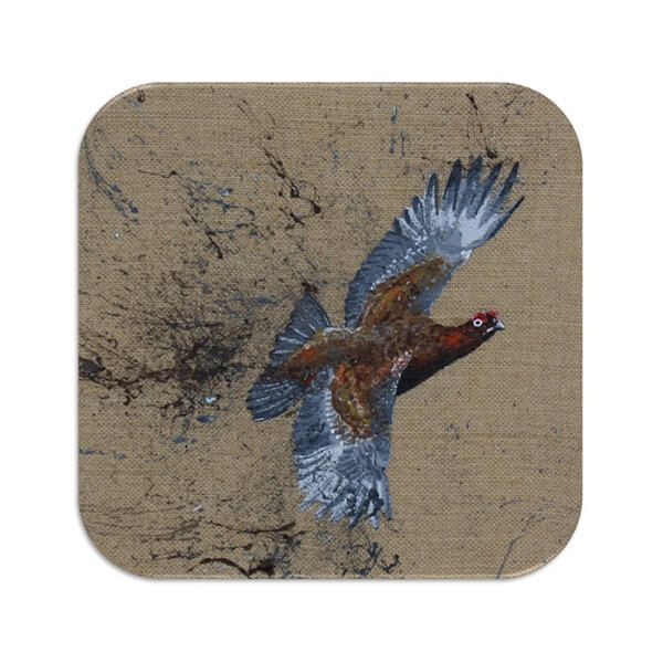 Country Matters Red Grouse Coaster
