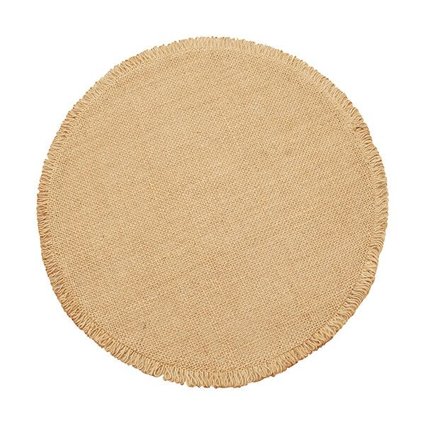 Walton & Co Circular Jute Placemat Natural