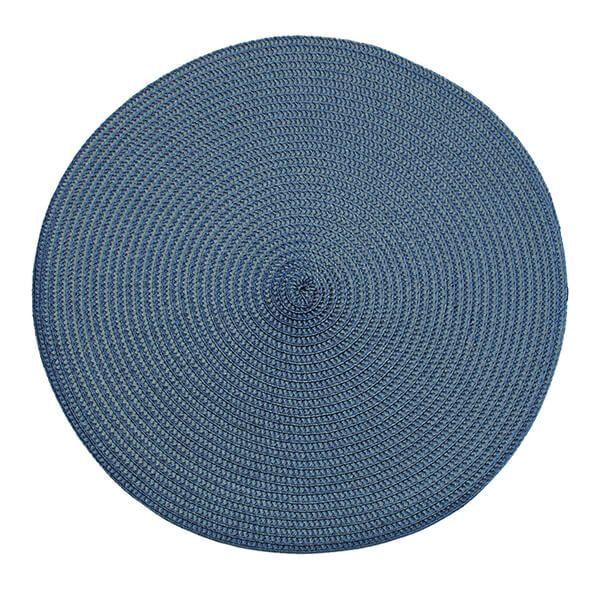 Walton & Co Slate Blue Circular Ribbed Placemat