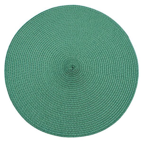 Walton & Co Green Circular Ribbed Placemat