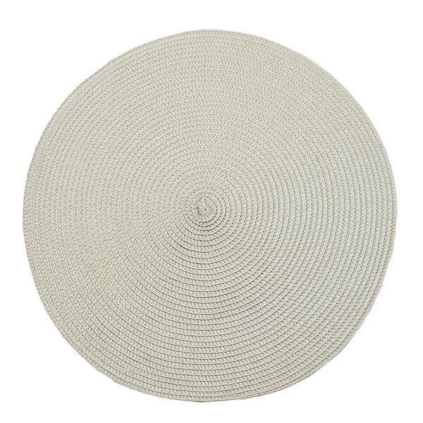 Walton & Co Linen Circular Ribbed Placemat