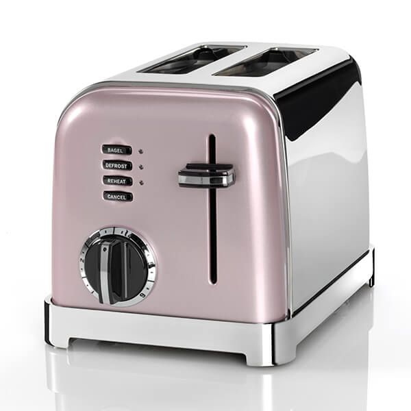 Cuisinart Style Collection 2 Slice Toaster Vintage Rose