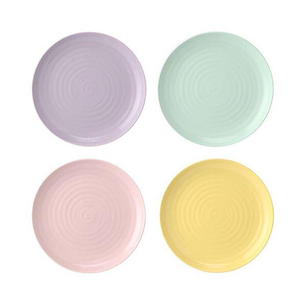 """Sophie Conran Colour Pop Set Of 4 Coupe Plates Assorted Colours 10.5"""""""