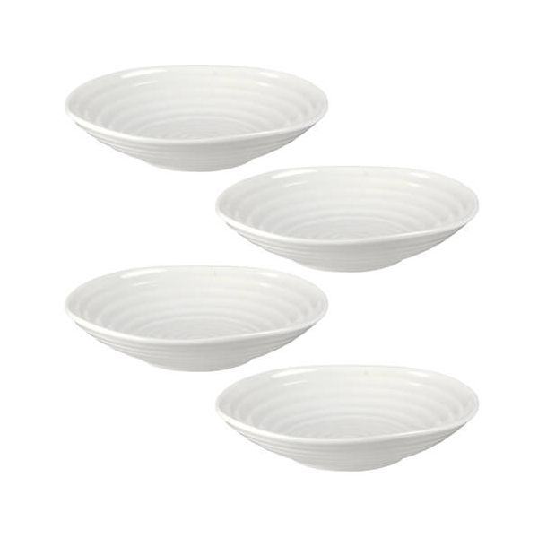 "Sophie Conran Low Bowl White 4.5"" Set Of 4"