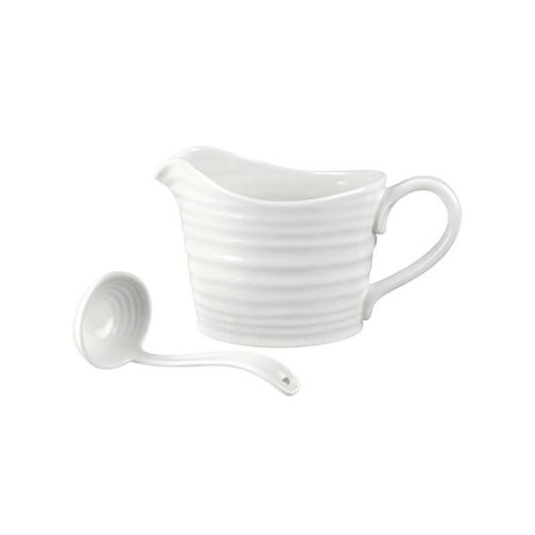 Sophie Conran Sauce Jug & Mini Ladle White