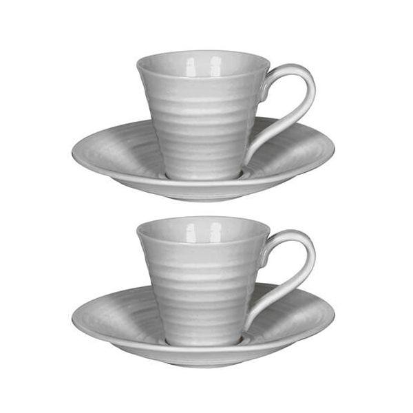 Sophie Conran Grey Espresso Cup & Saucer Set Of Two
