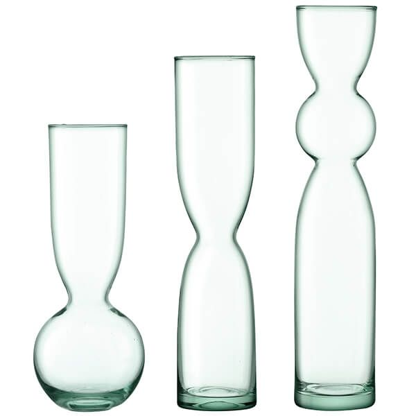 LSA Canopy Recycled Trio Vase Set
