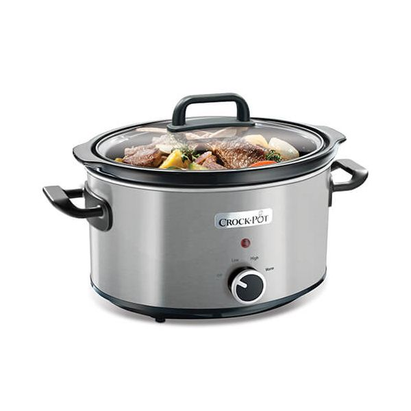 Crock Pot 3.5 Litre Stainless Steel  Slow Cooker