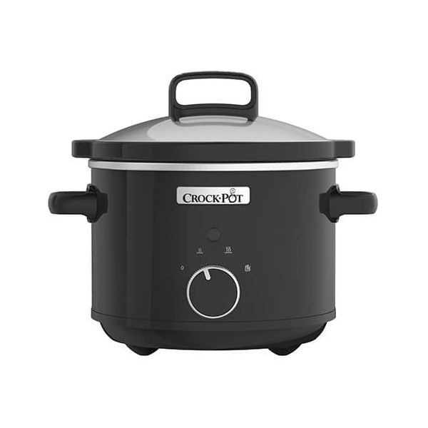 Crock Pot Compact 2.4 Litre Black Slow Cooker