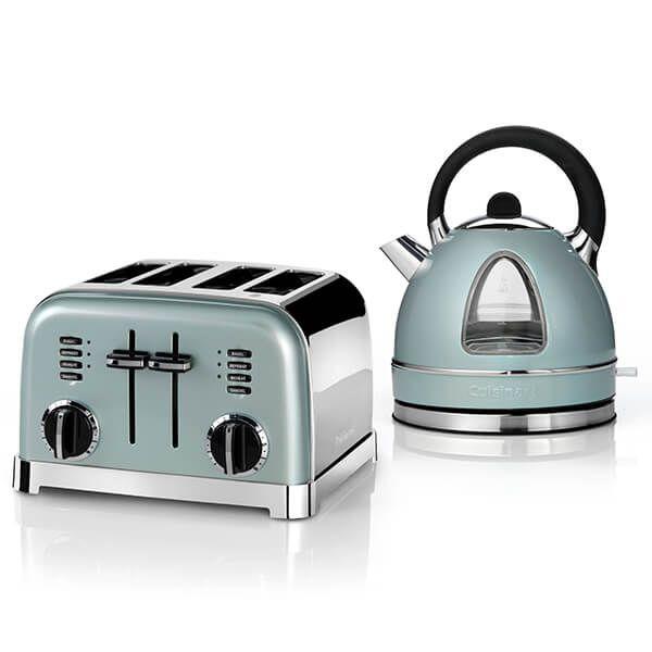 Cuisinart Style Light Pistachio Traditional Kettle & 4 Slice Toaster Breakfast Set