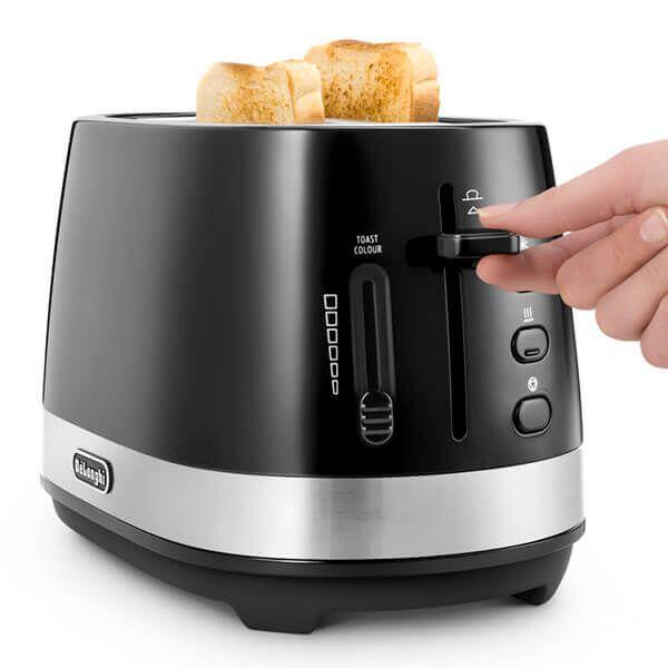 Delonghi Active Line 2 Slot Toaster Black