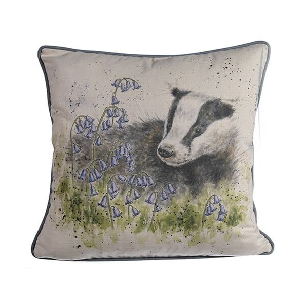 Wrendale A Country Gent, Badger Cushion
