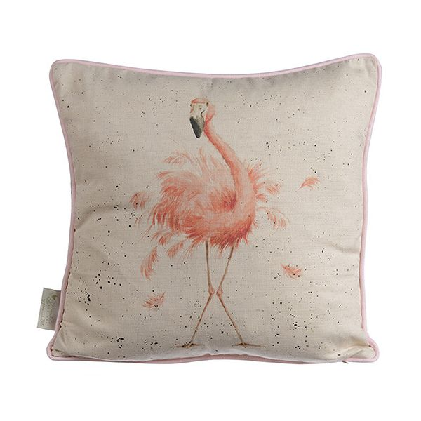 Wrendale Pink Flamingo Cushion