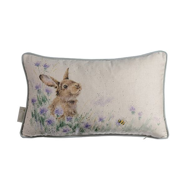 Wrendale Meadow Rabbit Rectangular Cushion