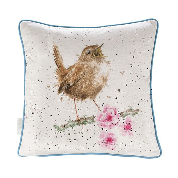 Wrendale Little Tweets Wren Cushion