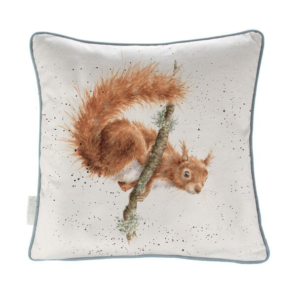 Wrendale The Acrobat Squirrel Cushion