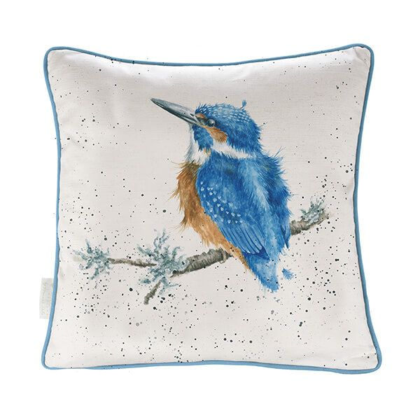 Wrendale Make A Splash Kingfisher Cushion