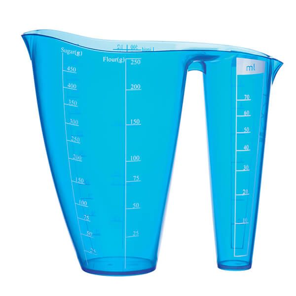 Colourworks Brights Blue 2 In 1 Measuring Jug