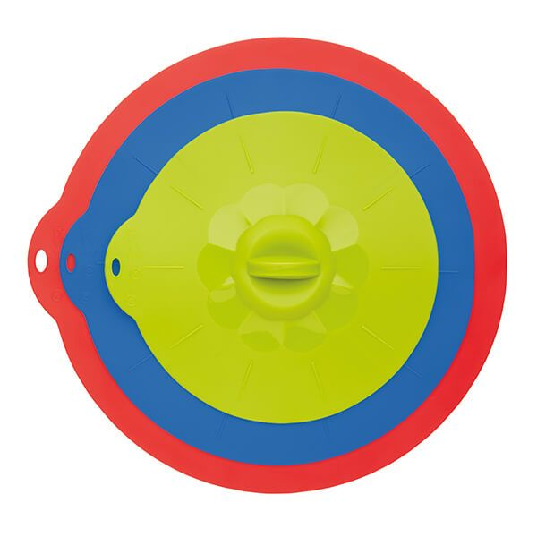 Colourworks Set of Three Multi-Function Silicone Suction Lids