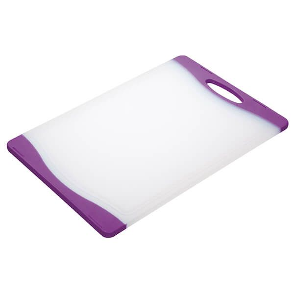 Colourworks Purple 36x25cm Reversible Chopping Board