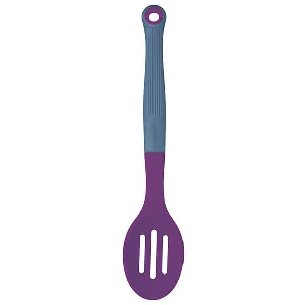 Colourworks Brights Purple Silicone Headed Slotted Spoon