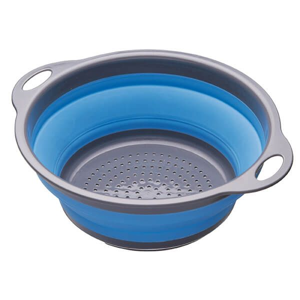 Colourworks Blue 24cm Collapsible Colander
