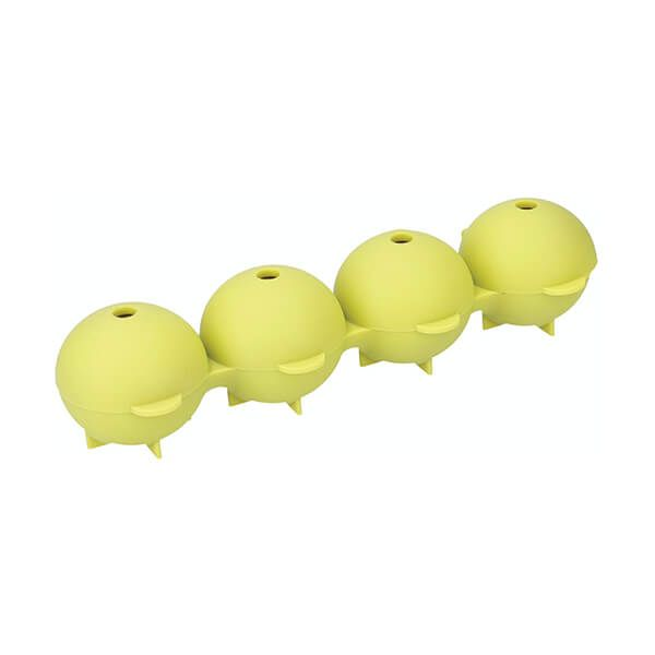 Colourworks Brights Green Easy Pop Silicone Spherical Ice Mould