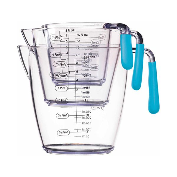 Colourworks Three Piece Measuring Jug Set (200ml/400ml/900ml)