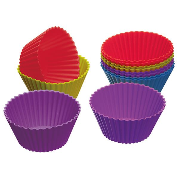 Colourworks Pack of Twelve Silicone 7cm Cupcake Cases