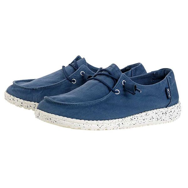 Dude Shoes Wendy Steel Blue Washed Canvas