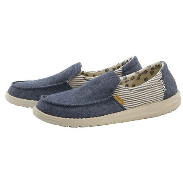 Dude Shoes Misty Barbados Canvas Blue