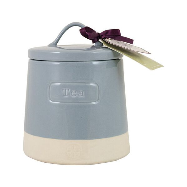 English Tableware Company Artisan Blue Tea Canister With Lid