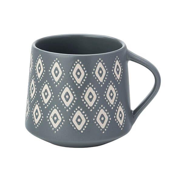 English Tableware Company Artisan Aztec Matt Grey Mug