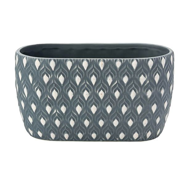 English Tableware Company Artisan Aztec Oval Planter