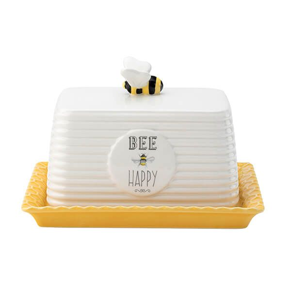 English Tableware Company Bee Happy Butter Dish