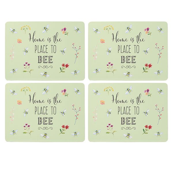 English Tableware Company Bee Happy Set of 4 Placemats