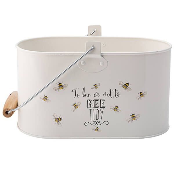 English Tableware Company Bee Happy Painted Steel Utility Tidy Tin