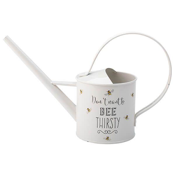 English Tableware Company Bee Happy Painted Steel Watering Can