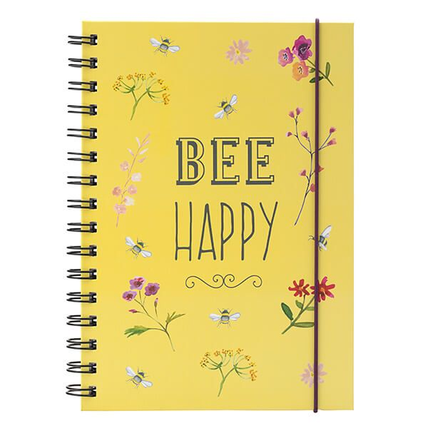 English Tableware Company Bee Happy Yellow Notebook