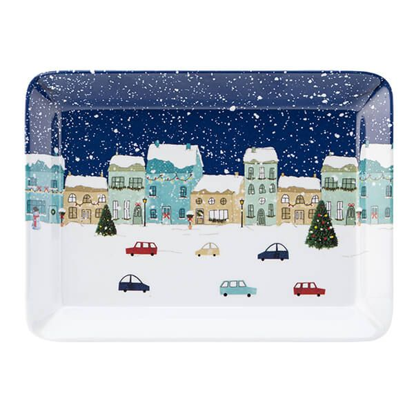 English Tableware Company Winter Scene Melamine Scatter Tray