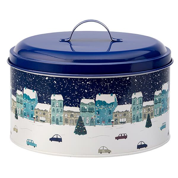 English Tableware Company Winter Scene Cake Tin