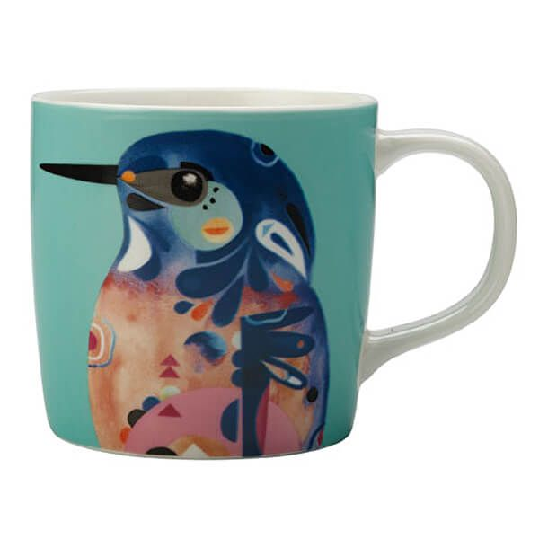 Maxwell & Williams Pete Cromer 375ml Mug Kingfisher Gift Boxed