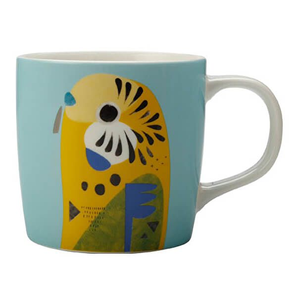 Maxwell & Williams Pete Cromer 375ml Mug Budgerigar Gift Boxed